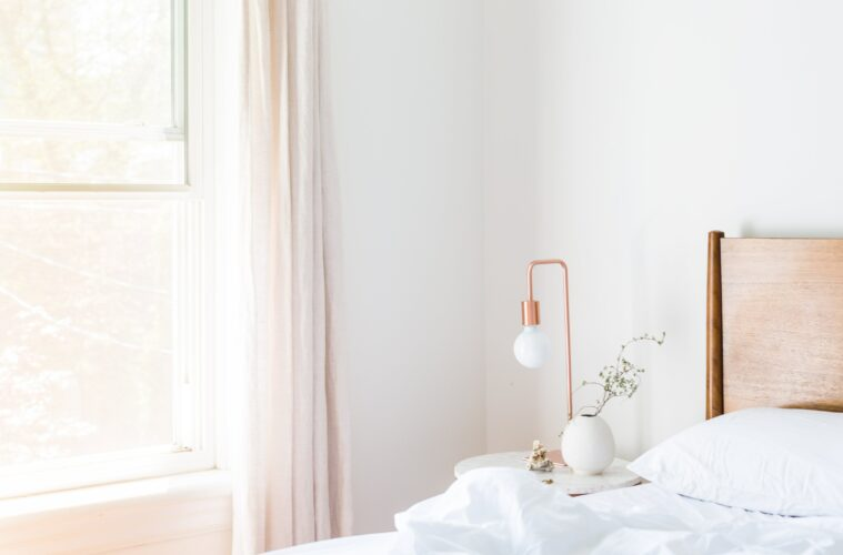 White minimalist bedroom
