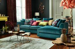 Cirrus large velvet sofa